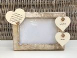Shabby personalised Chic Photo Frame Auntie Aunty Great Aunt Any Name Etc - 332866456107